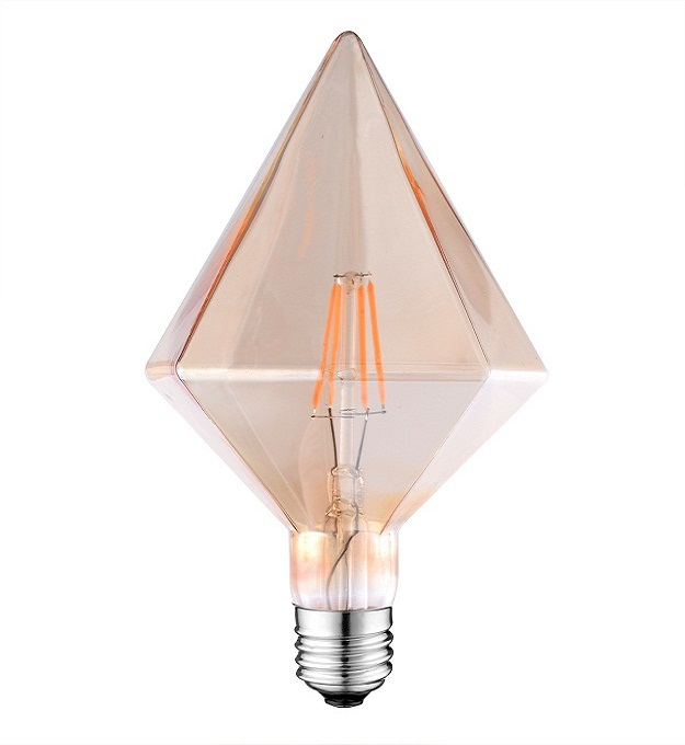 D110 Vintage Amber led diamond light bulb