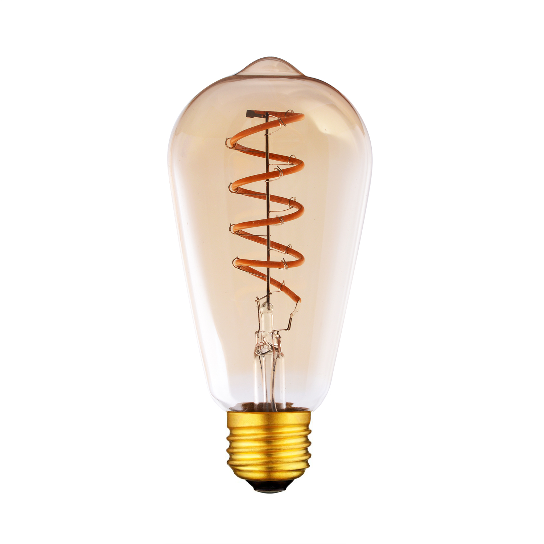 ST64 LED Flexible Soft Filament light bulbs