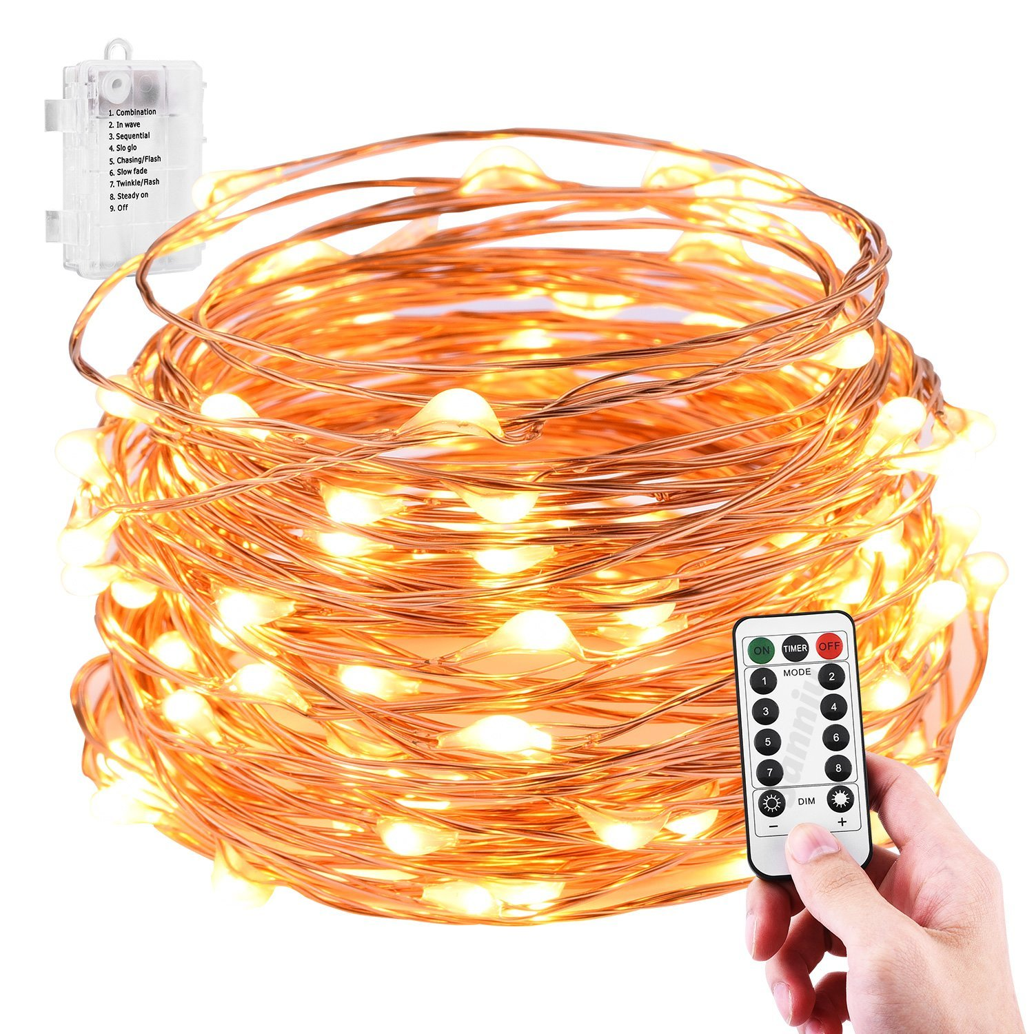Colored Copper Wire Batteries Powered String Light