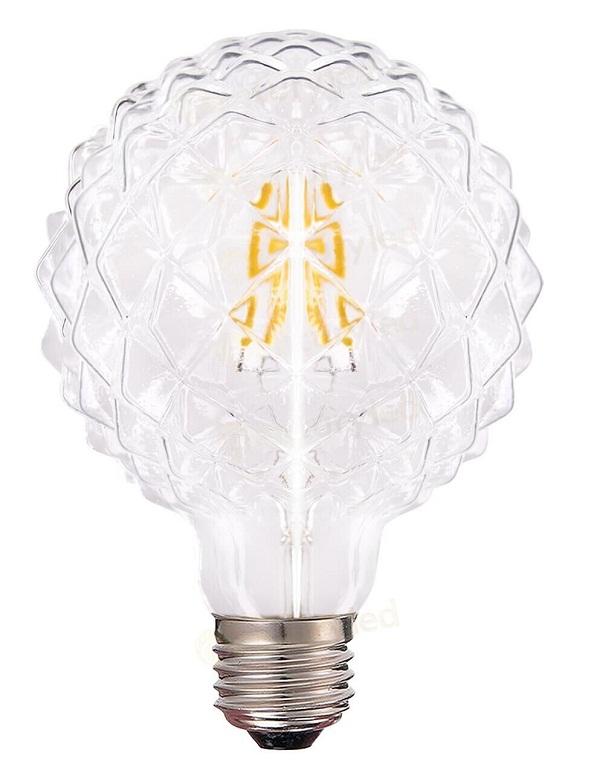 D95 E27 crystal cut light bulbs