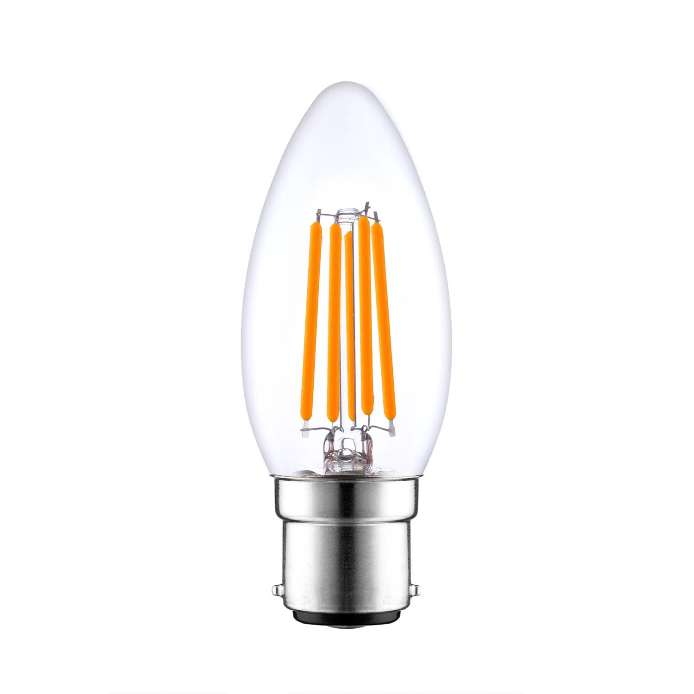 B22 LED Filmanet candle light bulbs