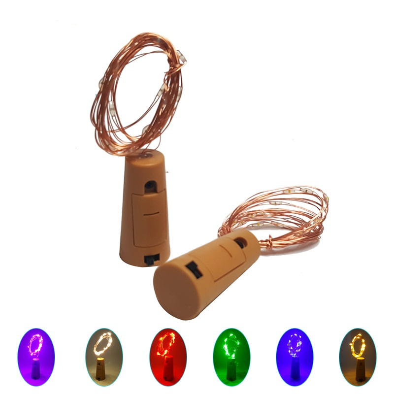 Bottle Stopper Light Glass Wine Colorful LED String Lights