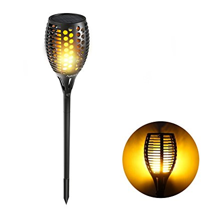 Solar Garden Torch Flame Light