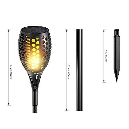 Solar Garden Torch Flame Light