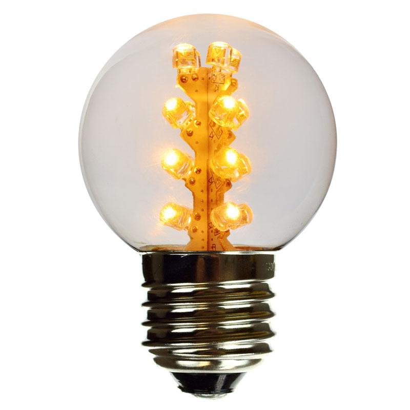E27 G50 Amber LED globe light bulbs