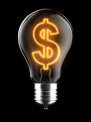 E27 Dollar symbol filament bulb light