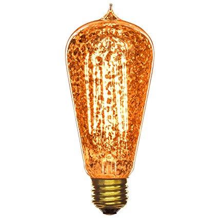 ST64 Golden Fleck Antique Edison bulbs