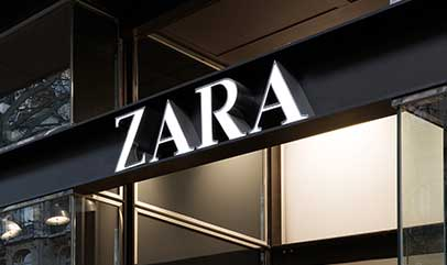 LED retail lighting for ZARA SHOP
