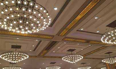 Banquet hall lighting for Shenzhen Mission Hills
