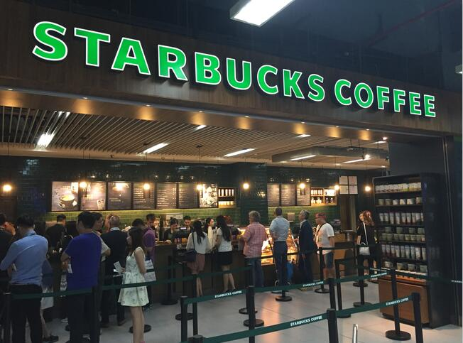 Modern LED lighting for Starbucks Coffee