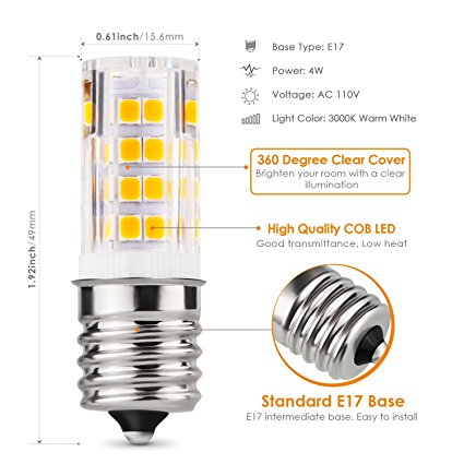 E17 LED Bulb Microwave Oven Appliance Light Bulb